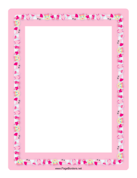 Free Baby Picture on Baby Girl Border Page Border