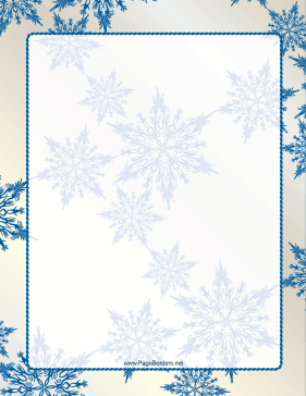 ... Snowflake Border page border Elegant Page Borders For Microsoft Word