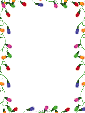 Christmas Lights Christmas Border page border