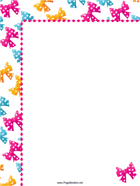 Colorful Bows Party Border