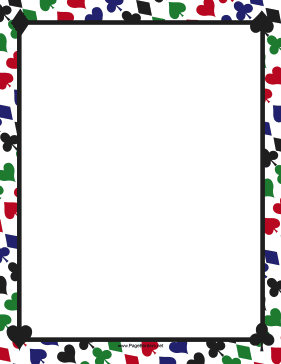 Colorful Card Suites Border page border