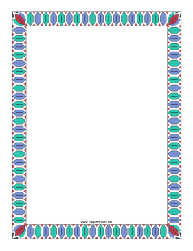 Colorful geometric border page border