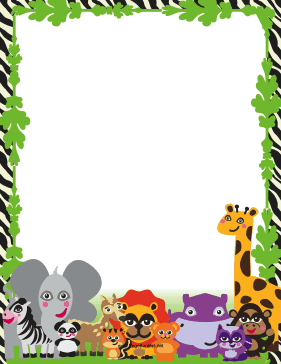 Animal Border New Calendar Template Site