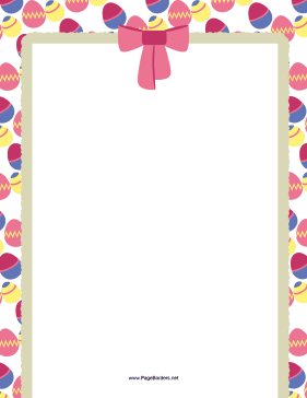Easter Eggs and Bow Border page border