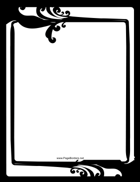 Fancy black and white border page border