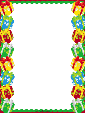 Gifts and Packages Christmas Border page border