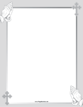 Gray Prayer Border