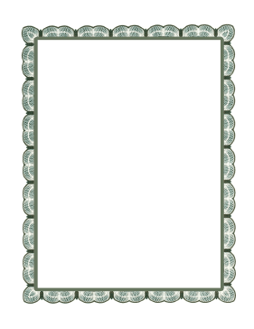 Green Lace Border page border