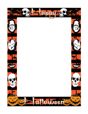 Transformative image pertaining to free printable halloween borders