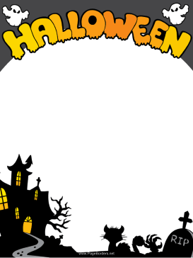 Gargantuan image with free printable halloween borders