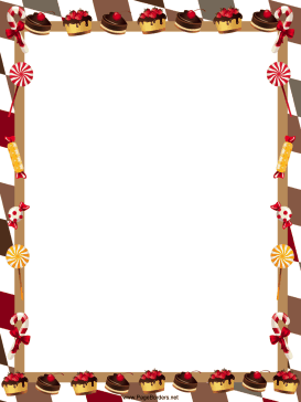 Free Christmas Candy Cane Borders | New Calendar Template Site
