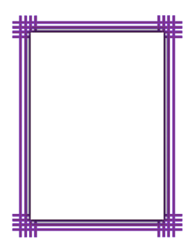 Purple Weave Border