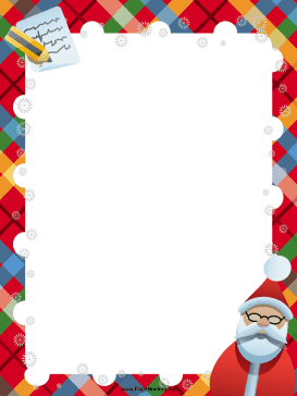 santa list christmas border great for santa letters and thank you ...