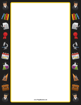 Science Equipment Border page border