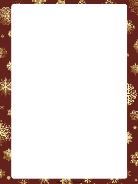 ... in this free printable christmas border download free version