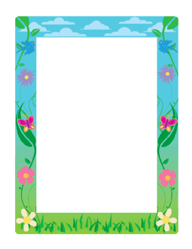 Spring Border page borderSpring Page Border Clipart