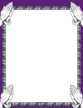 Stained Glass Prayer Border page border