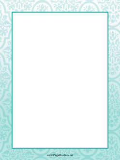 Teal Abstract Border page border