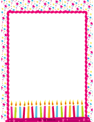 Birthday Candles Party Border page border