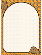 Bloodhound Dog Border page border