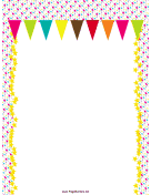 Colorful Pennants Party Border page border