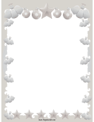 Elegant Angels Stars and Ornaments Christmas Border