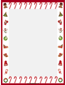 Festive Candy Canes Christmas Border