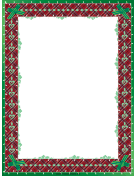Green Bows Christmas Border