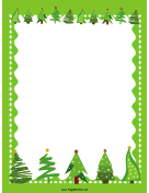 Green Trees Christmas Border