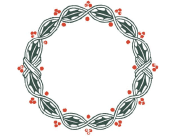 Holly Wreath Border
