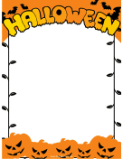 Jack-o-Lanterns Halloween Border
