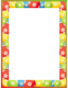 Snowflake and Ornament Christmas Border