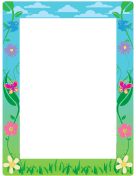 Spring BorderSpring Page Border Clipart