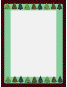Trees on Houndstooth Christmas Border
